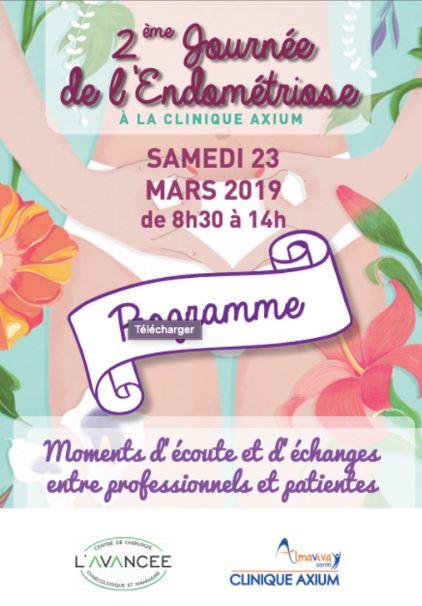 2ème Journée de l'endométriose le 23 mars 2019 organisée par L'Avancée à Aix en Provence 1