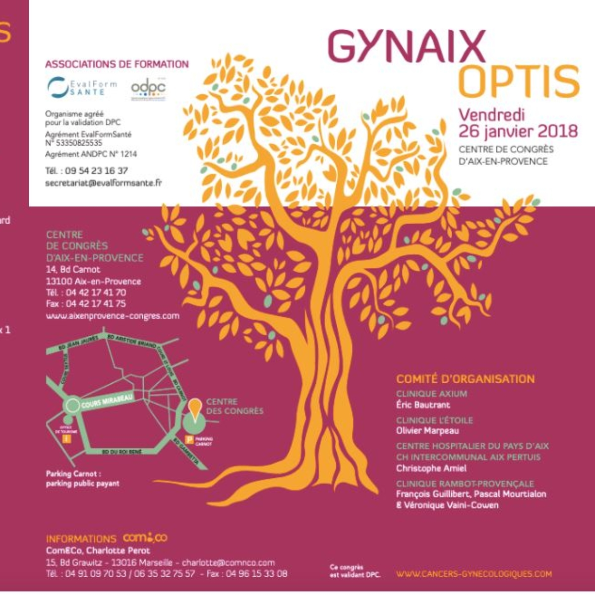 Congrès GynAixOptis le 26 janvier 2018 au Centre des congrès d'Aix avec les Dr Bautrant et Amiel