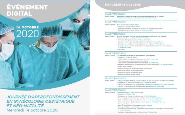 Le CRSF présent à la journée d'approfondissement en gynécologie obstétrique du 14 octobre 2020